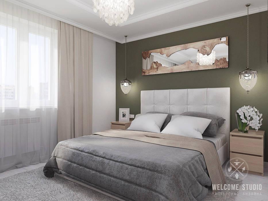 Chambre de style  par Мастерская дизайна Welcome Studio, Minimaliste