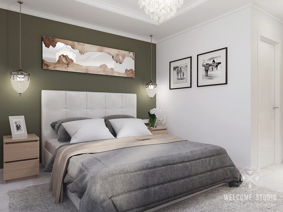 Minimalist bedroom by Мастерская дизайна Welcome Studio Minimalist