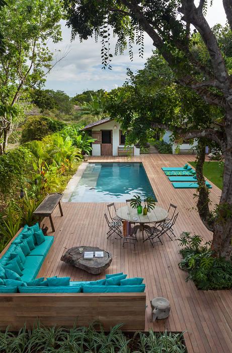 Área externa Vida de Vila Jardins rústicos Verde