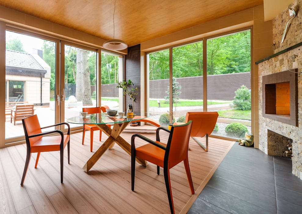 homify Modern style balcony, porch & terrace Wood effect