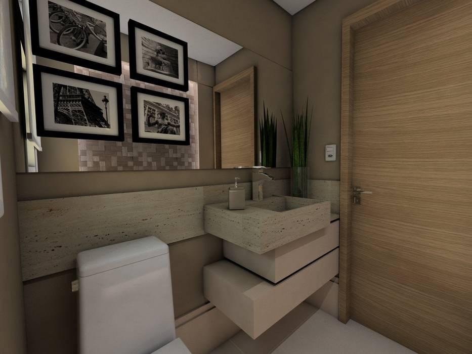 Projeto F & M Banheiros modernos por Ricardo Cavichioni Arquitetura Moderno