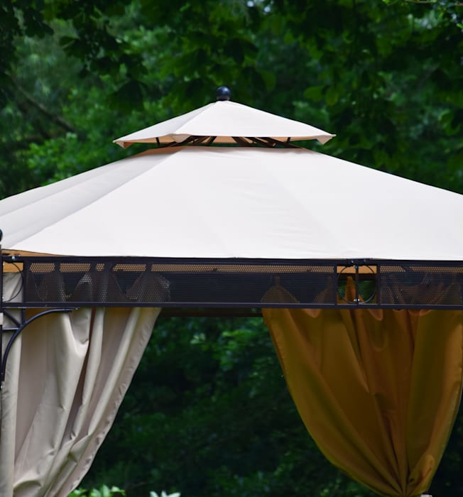 Mayfair Gazebo By Weaves Roof Vent Detail Garden By World