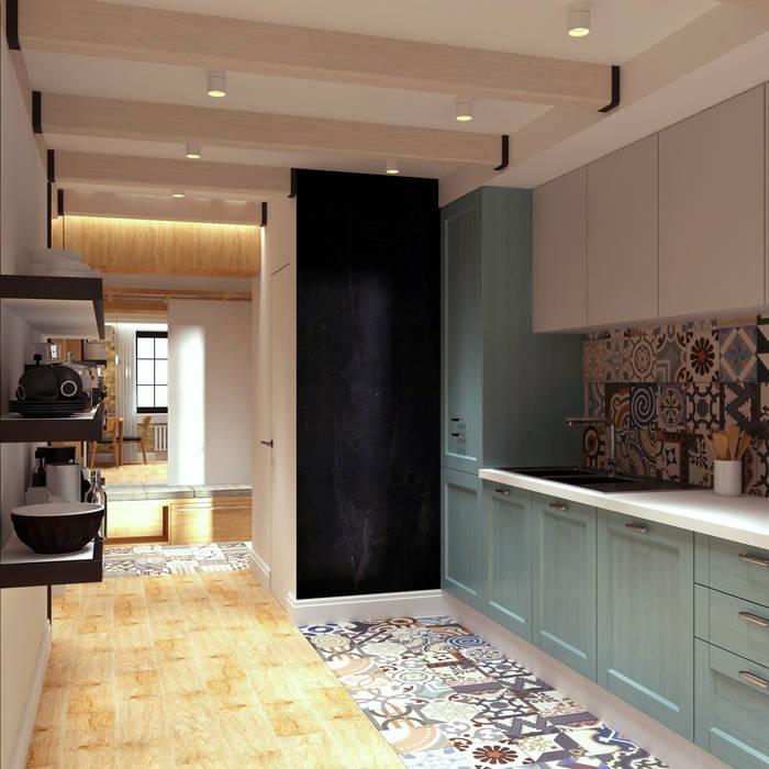 LOFT на Менякина Кухня в стиле лофт от QUADRUM STUDIO Лофт