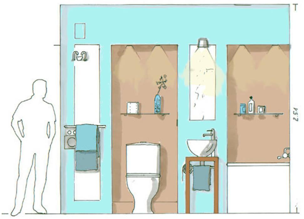 5 qm moderne badezimmer von raumagentur - artefakt modern ...