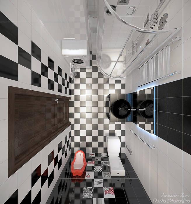 Modern Bathroom by Студия интерьерного дизайна happy.design Modern