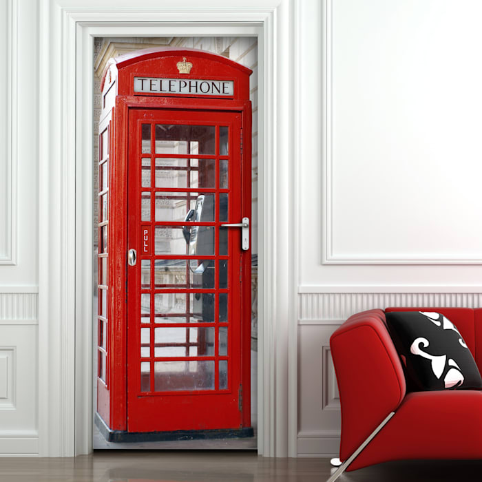 Crearreda หน้าต่างและประตูประตู ไม้ผสมพลาสติก Red