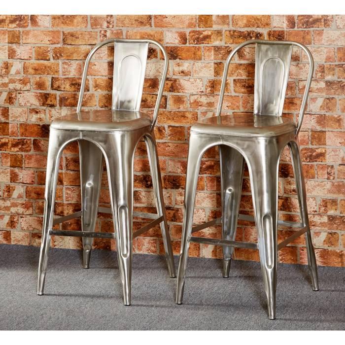 Bonsoni Baudouin Industrial Bar Chair Made From Reclaimed Metal And Wood by British Raj Furniture homify KücheTische und Sitzmöbel Holz Holznachbildung