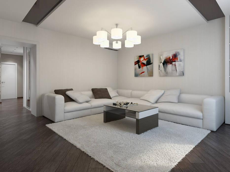 Дизайн проект квартиры 80,93 м2 Гостиная в стиле модерн от Artstyle Модерн
