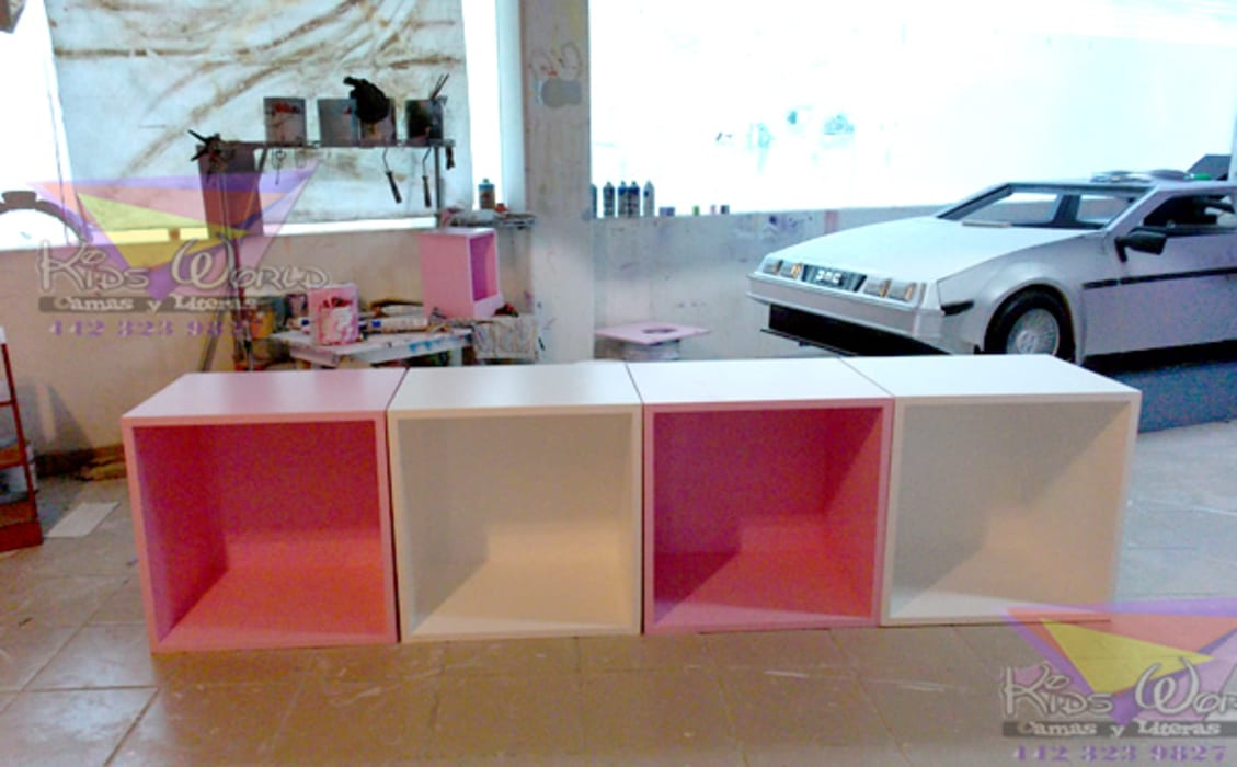 Cubos: Recámaras infantiles de estilo  por camas y literas infantiles kids world, Moderno Derivados de madera Transparente