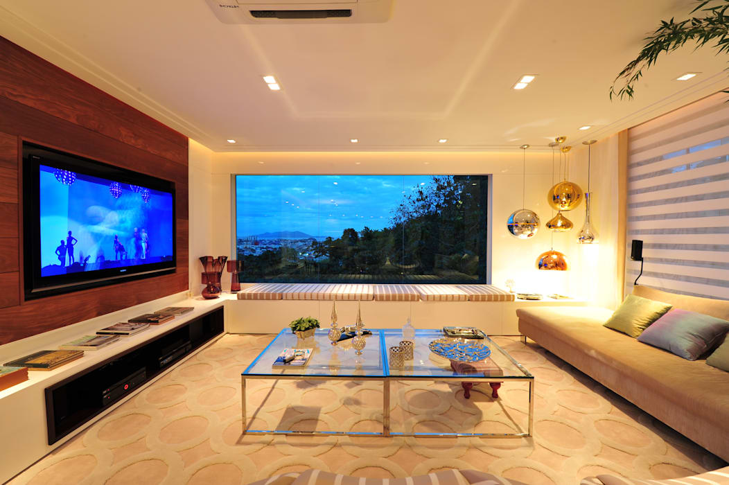 Modern living room by ANNA MAYA ARQUITETURA E ARTE Modern Wood Wood effect