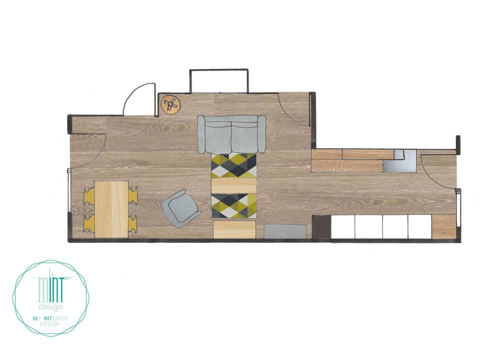 plan d'agencement: Salon de style  par Mint Design