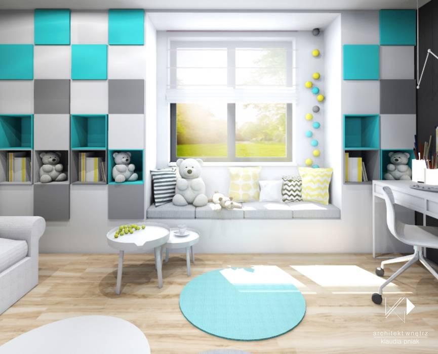 Dormitorios infantiles de estilo moderno de Architekt wnętrz Klaudia Pniak Moderno
