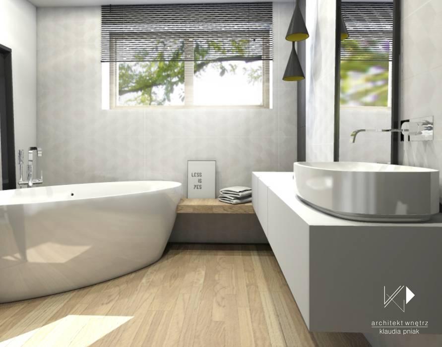 ห้องน้ำ โดย Architekt wnętrz Klaudia Pniak, สแกนดิเนเวียน