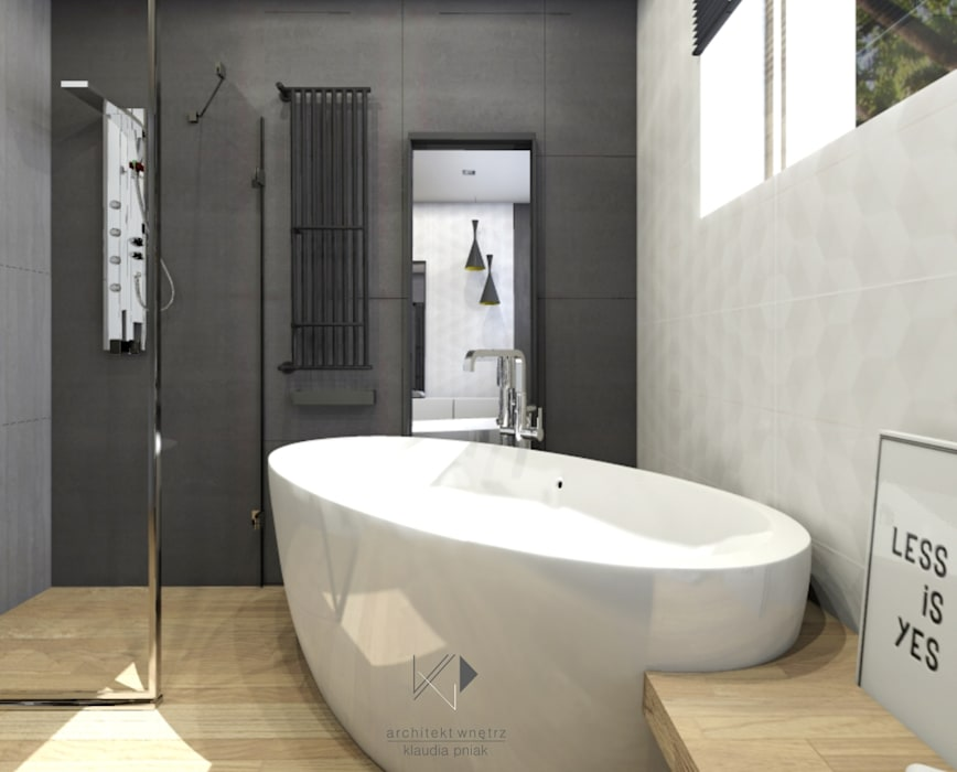 Bathroom by Architekt wnętrz Klaudia Pniak, Scandinavian