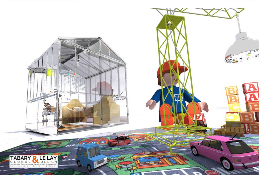l'invisible petite serre de Nantes : la Chambre d'enfant: Chambre d'enfant de style de style Moderne par Tabary Le Lay