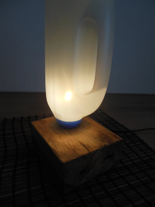 Tisch Bodenlampe Upcycling Wohnzimmer Von Holzsteinkunstobjekte
