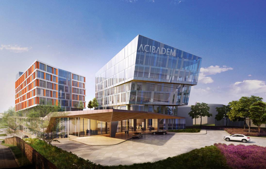 Hôpitaux modernes par LİNA MİMARLIK Moderne