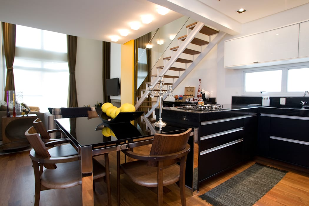 Loft no bairro Jardim Paulista Cozinhas modernas por EVELIN SAYAR ARQUITETURA E INTERIORES Moderno