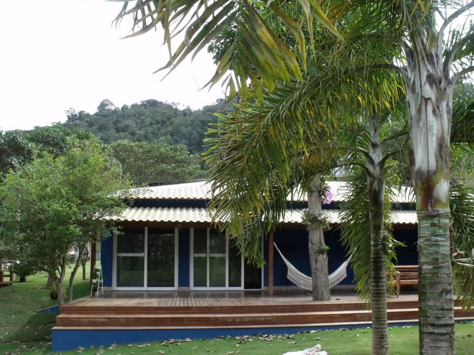 Área de Lazer Cristiane Locatelli Arquitetos & Associados Casas rústicas
