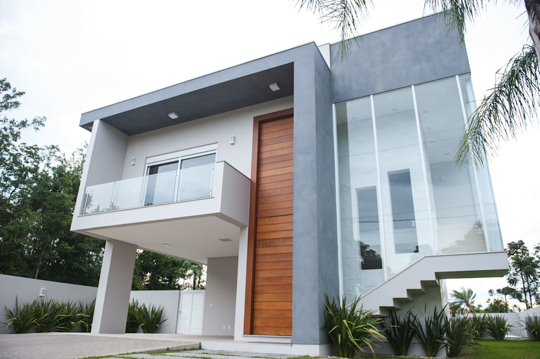 現代房屋設計點子、靈感 & 圖片 根據 Pau Brasil 現代風
