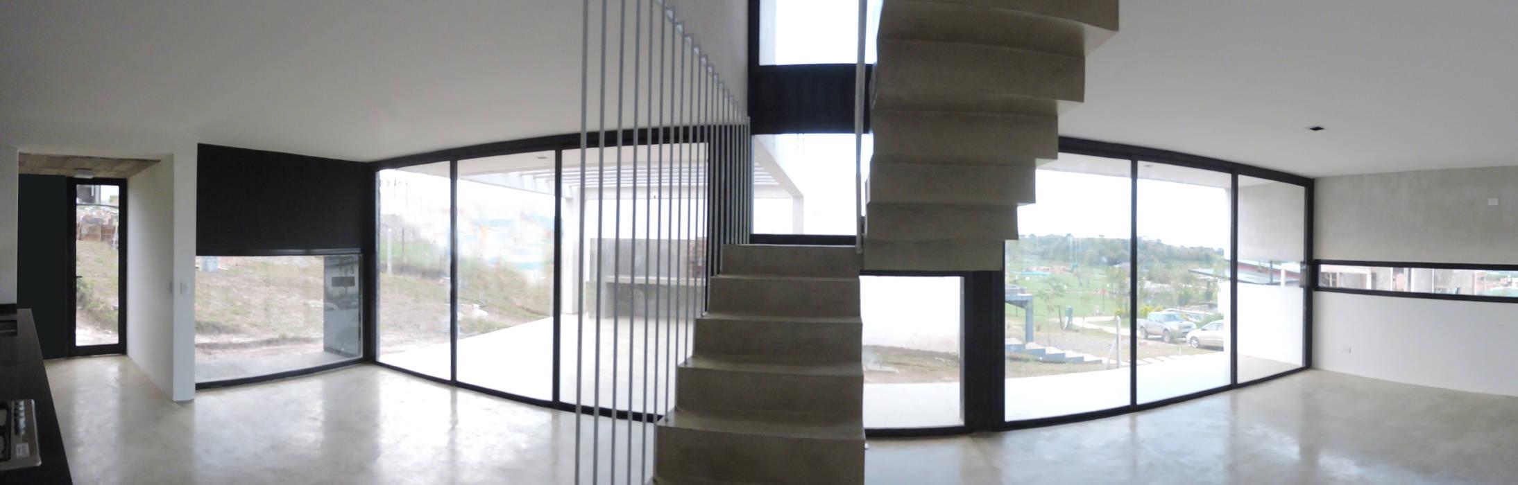 Casa LL Pasillos, vestíbulos y escaleras minimalistas de jose m zamora ARQ Minimalista