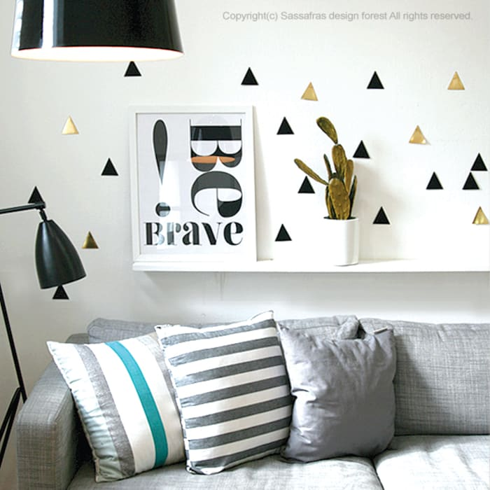 modern  by SASSAFRAS, Modern Textile Amber/Gold