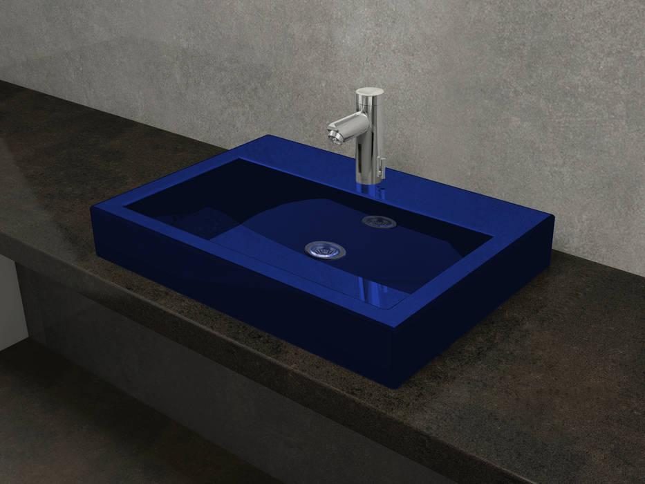 Nowa Droga W Standardach Modern Bathroom Pottery Blue