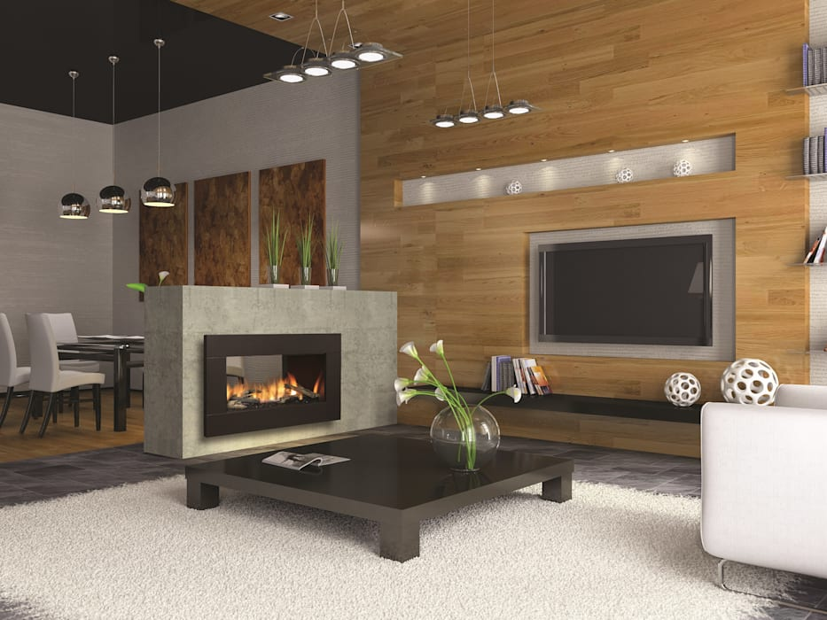 CHIMENEAS JAHEZA Living roomFireplaces & accessories