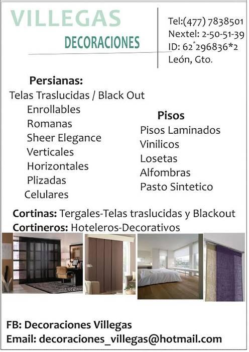 Persianas y pisos para todos los espacios Decoraciones villegas HogarAccesorios y decoración
