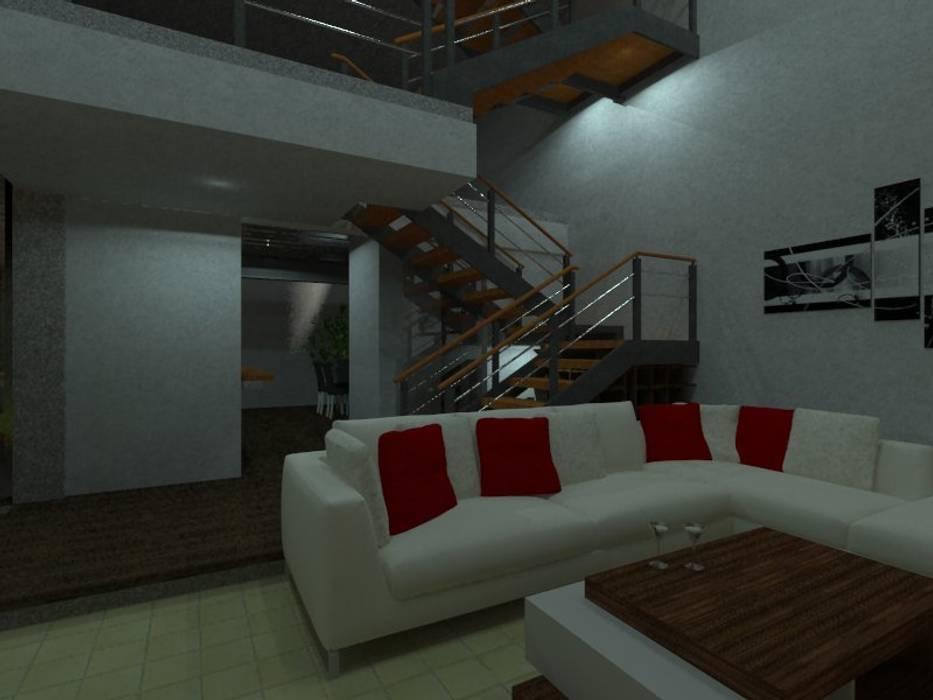 Estancia Hernández Atelier: Pasillos y recibidores de estilo  por Bamboo design & garden