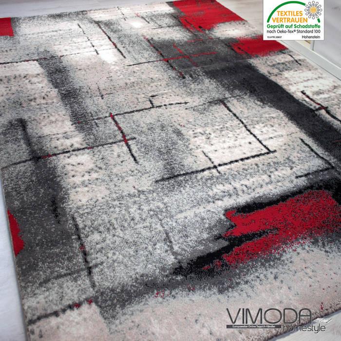 Moderner Frisee Designer Teppich Mit Abstrakt Muster Melliert In