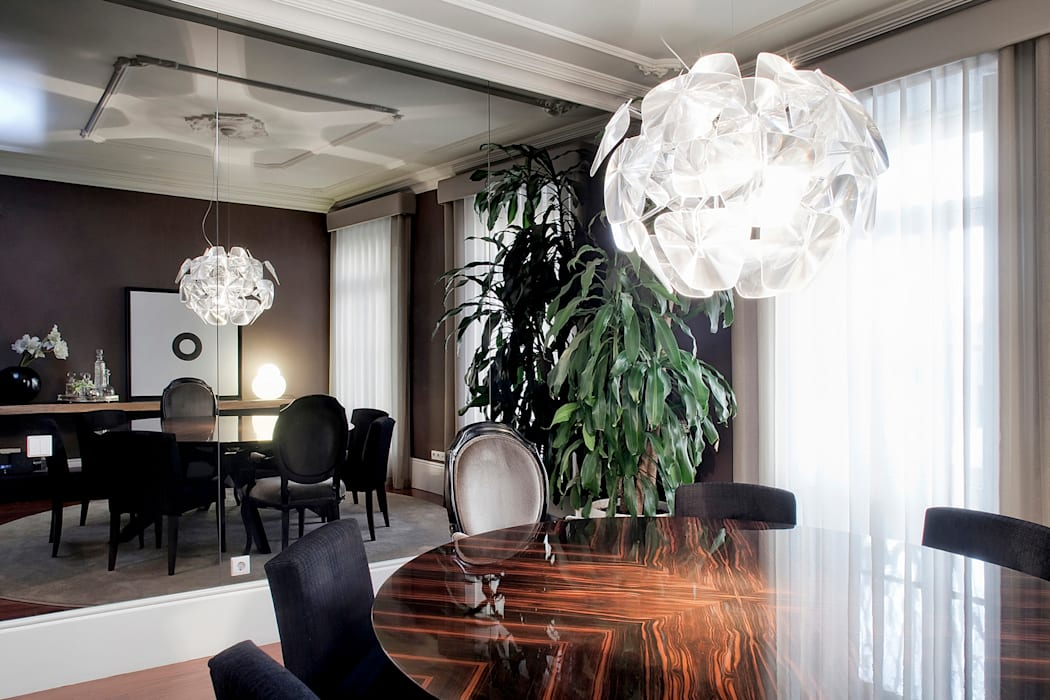 Residência Foz: Salas de jantar  por Jorge Cassio Dantas Lda,