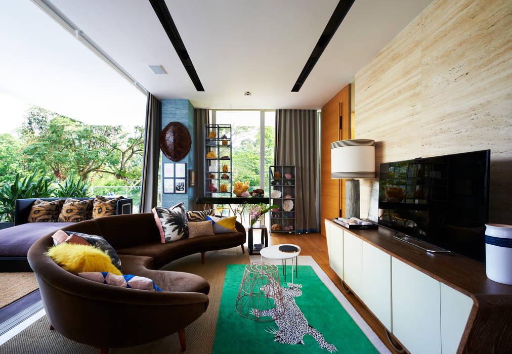 Salones de estilo  de Viterbo Interior design, Ecléctico