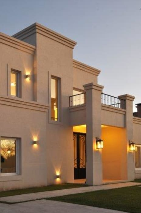 frente: Casas de estilo  por Parrado Arquitectura