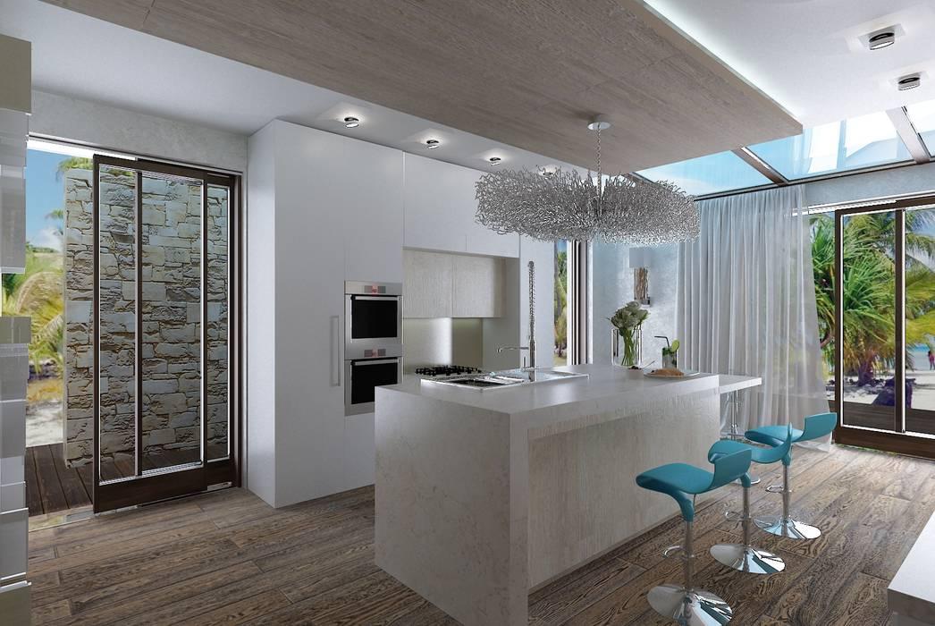 Дом у моря Кухня в стиле минимализм от Студия дизайна Натали Хованской Минимализм