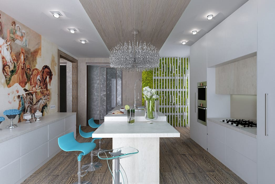 Дом у моря: Кухни в . Автор – Студия дизайна Натали Хованской, Минимализм
