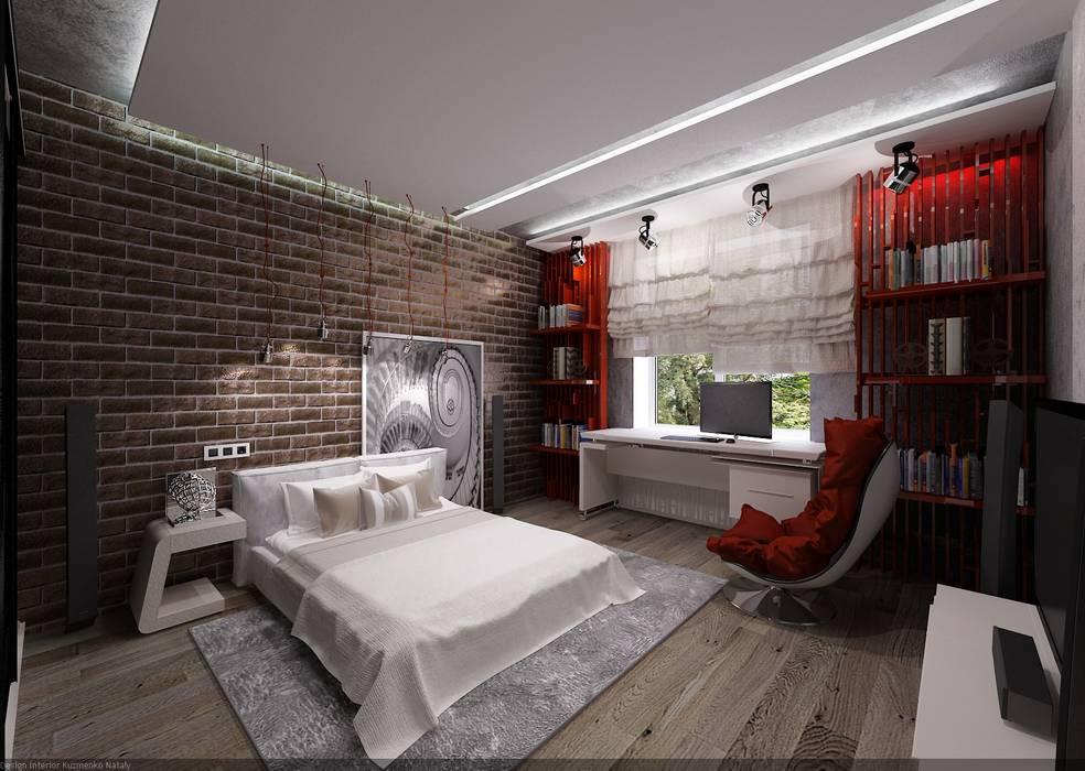 Студия дизайна Натали Хованской Industrial style bedroom Red