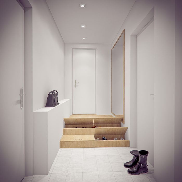Couloir et hall d'entrée de style  par YOUR PROJECT, Minimaliste