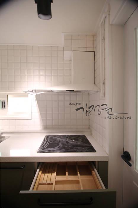 Dapur Modern Oleh 김정권디자이너 Modern Kulit Grey