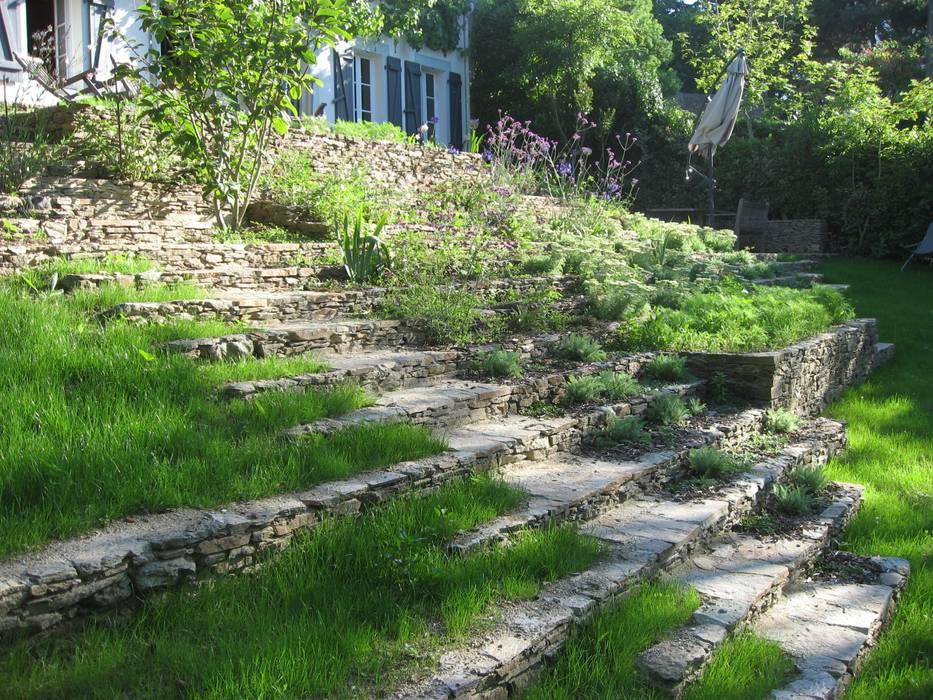 Escalier-jardin, belle-ile en mer: jardin de style par atelier ...