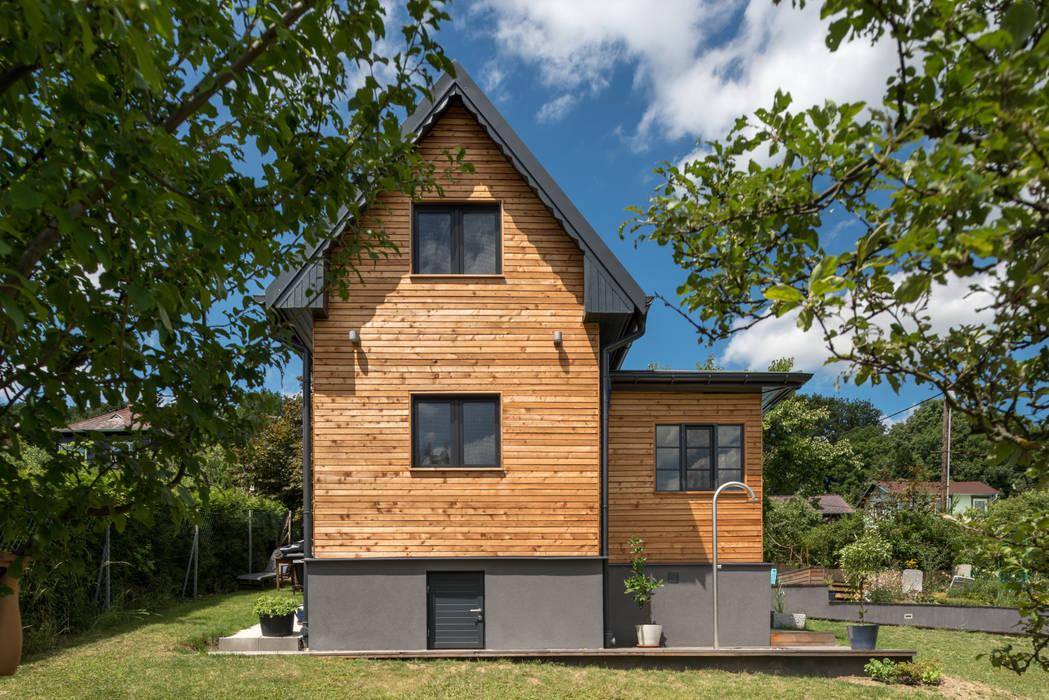 Modern Houses by UNA plant Modern Wood Wood effect