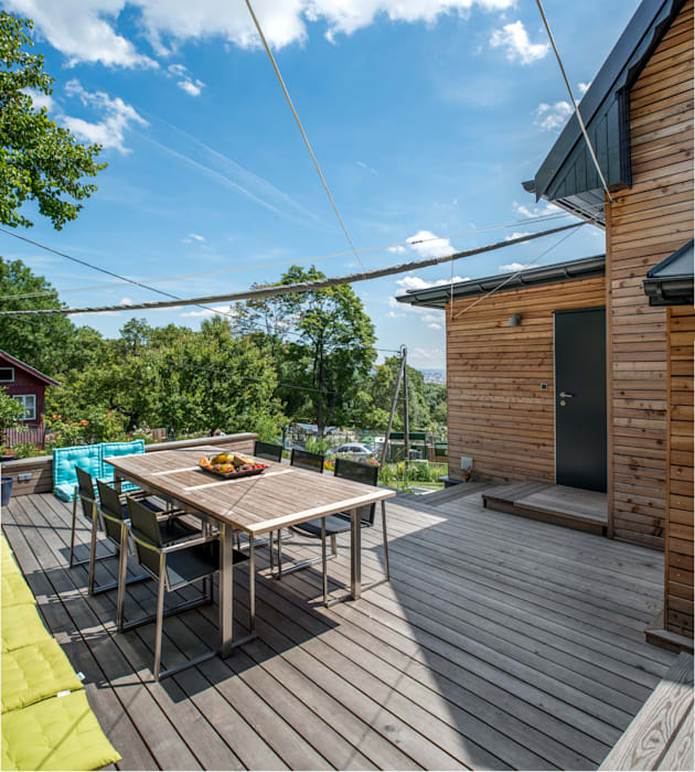Modern Houses by UNA plant Modern