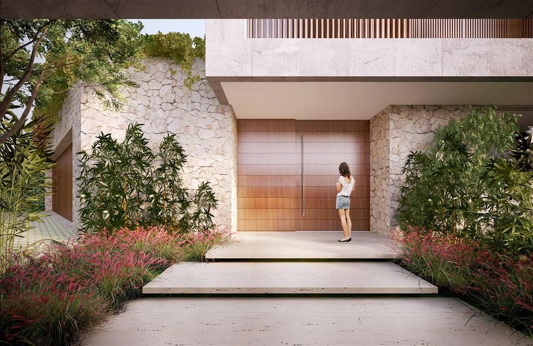 Casa H Acesso Portas e janelas minimalistas por Mader Arquitetos Associados Minimalista