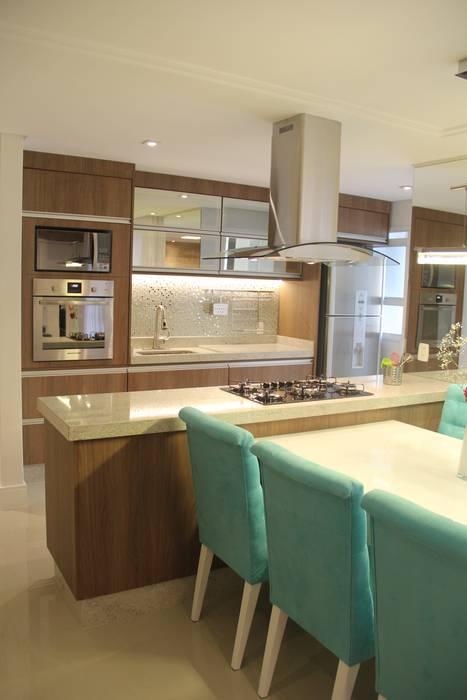 Cocinas de estilo moderno por padoveze interiores homify for Cocina estilo moderno