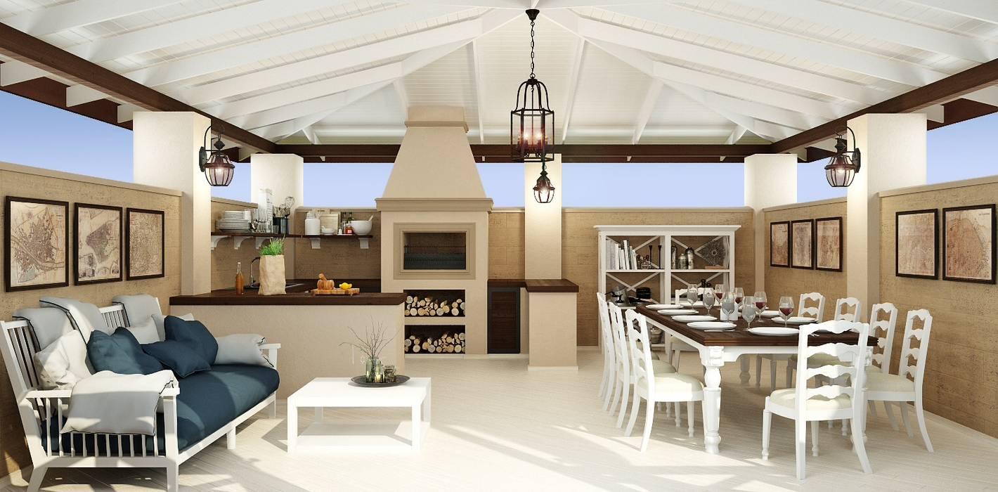 Balkon, Beranda & Teras Gaya Mediteran Oleh Rash_studio Mediteran