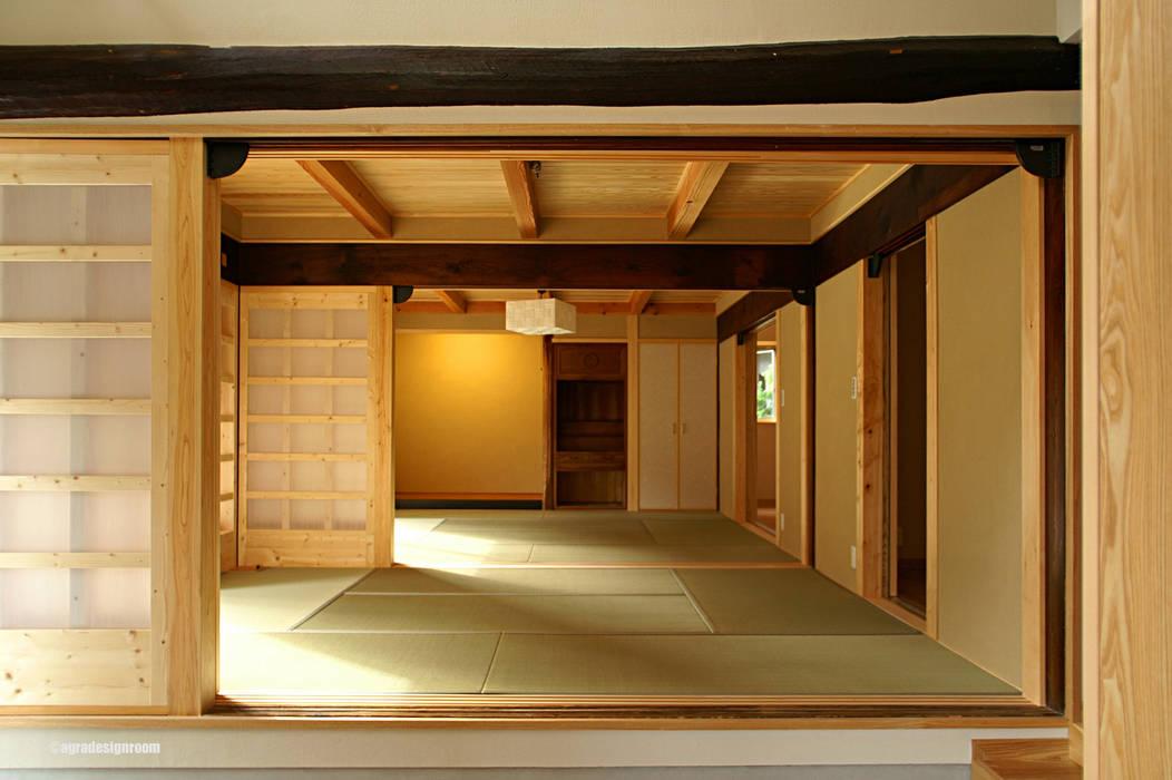 Phòng khách theo アグラ設計室一級建築士事務所 agra design room, Đồng quê