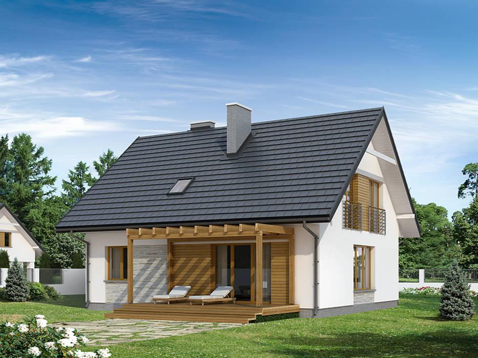 Casas de estilo moderno de Biuro Projektów MTM Styl - domywstylu.pl Moderno