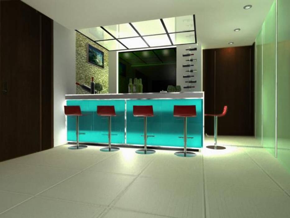 MINIBAR: Pasillos y recibidores de estilo  por M4X ,