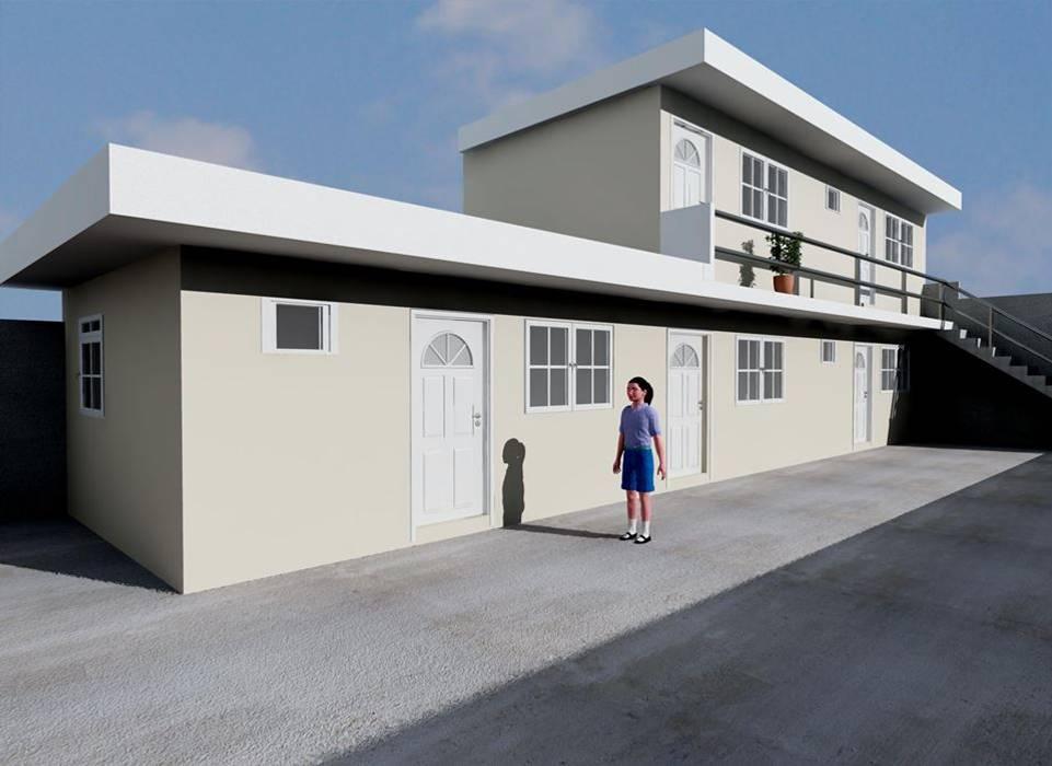 ANEXO DEPARTAMENTOS: Casas de estilo  por M4X , Minimalista Hierro/Acero