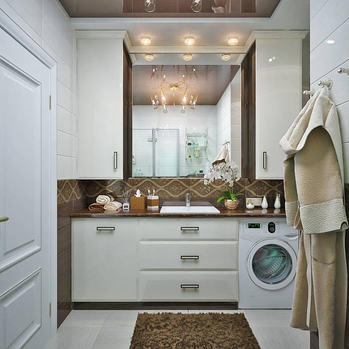 http://design-studio-ideas.ru/ru-ru/etud-v-pastelnyh-tonah-dizain-kvartiry-v-novostroike Студия дизайна ROMANIUK DESIGN Ванная комната в стиле модерн